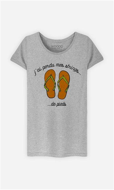 T-Shirt Femme Strings de pieds
