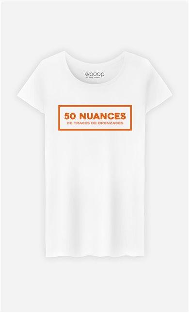T-Shirt Femme 50 Nuances de Traces de Bronzage