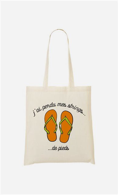 Tote bag  Strings de pieds