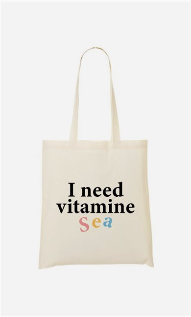 Tote bag  I Need Vitamine Sea
