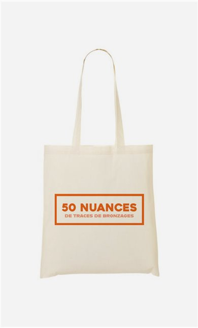Tote bag  50 Nuances de Traces de Bronzage