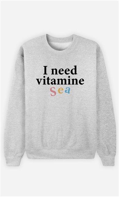 Sweat Femme I Need Vitamine Sea