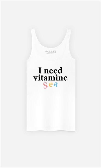 Débardeur Femme I Need Vitamine Sea