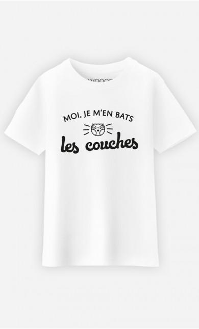 T-Shirt Enfant Je m'en Bats les Couches