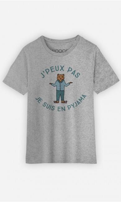 T-Shirt Enfant J'peux pas je suis en pyjama