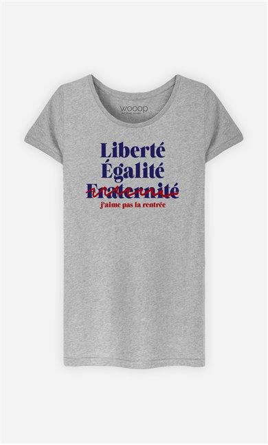 T-Shirt Femme J'aime Pas la Rentrée