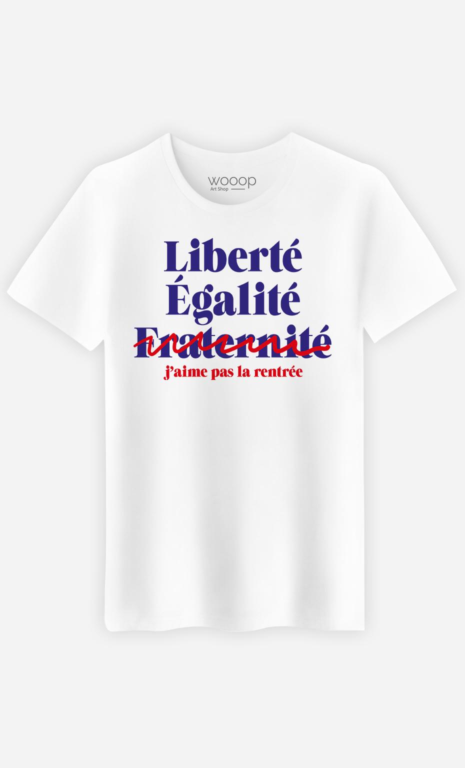 T-Shirt Homme J'aime Pas la Rentrée