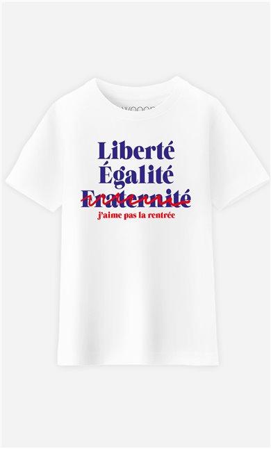 T-Shirt Enfant J'aime Pas la Rentrée