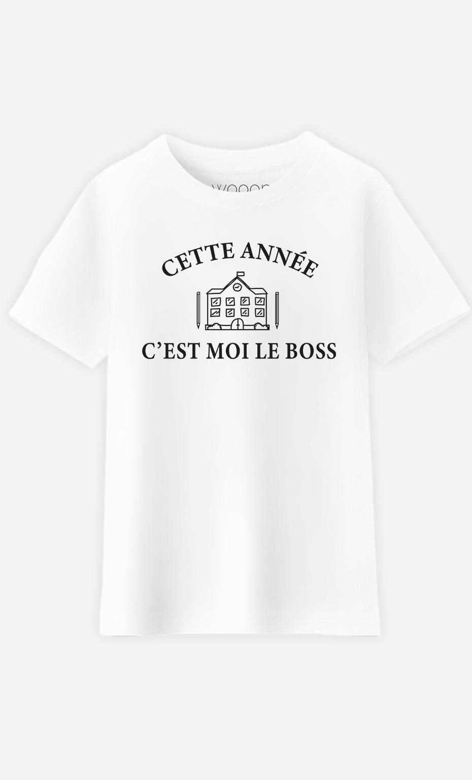 T-Shirt Enfant Cette année c'est moi le boss