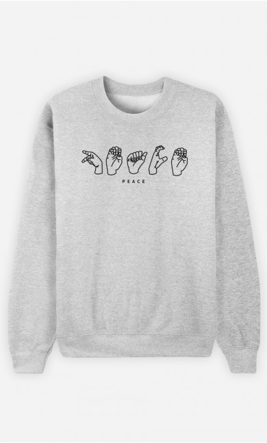 Sweat Gris Peace