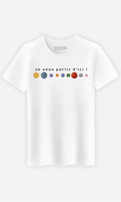 T-Shirt Homme Je veux partir d'ici