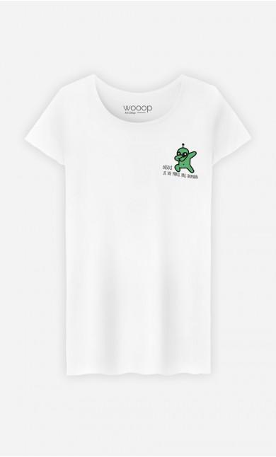 T-Shirt Femme Désolé je ne parle pas humain