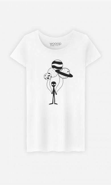 T-Shirt Femme Ballon constellation
