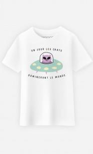 T-Shirt Enfant Un jour les chats domineront le monde