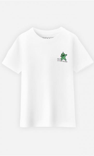 T-Shirt Enfant Désolé je ne parle pas humain