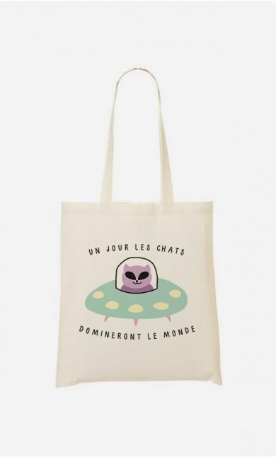Tote Bag Un jour les chats domineront le monde