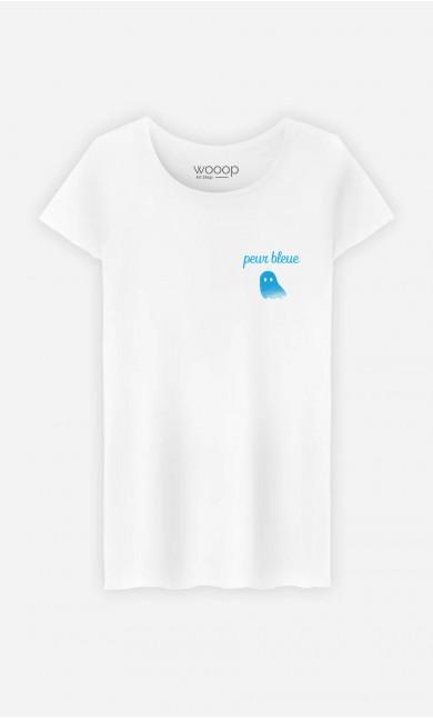 T-Shirt Femme Peur Bleue