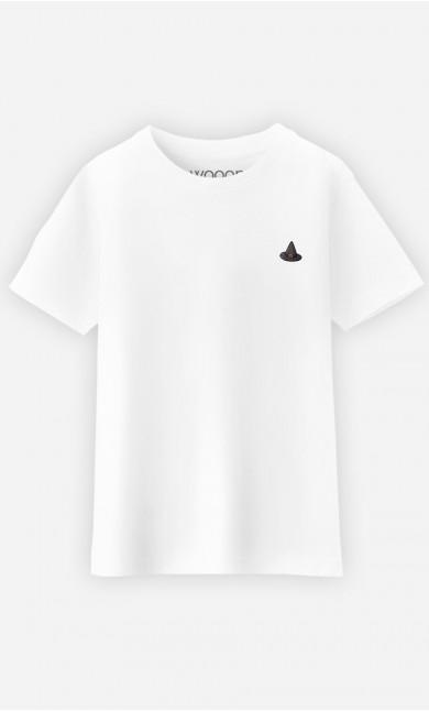 T-Shirt Enfant Chapeau de Sorcière - brodé