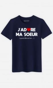 T-Shirt Homme J'adore Ma Soeur (Quand Elle Est Loin)