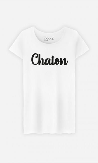 T-Shirt Femme Chaton
