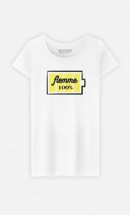 T-Shirt Femme Flemme 100