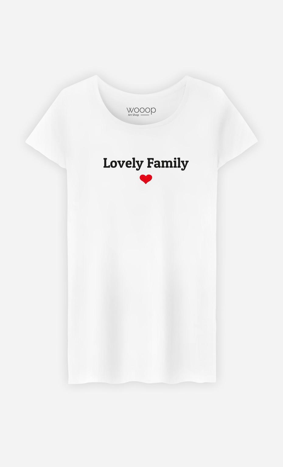 T-Shirt Femme Lovely family
