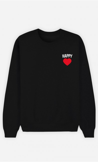 Sweat Homme Happy motif cœur