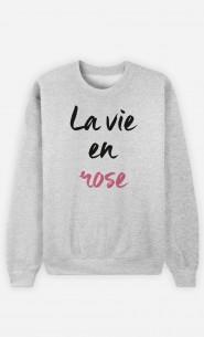 Sweat Femme La vie en rose