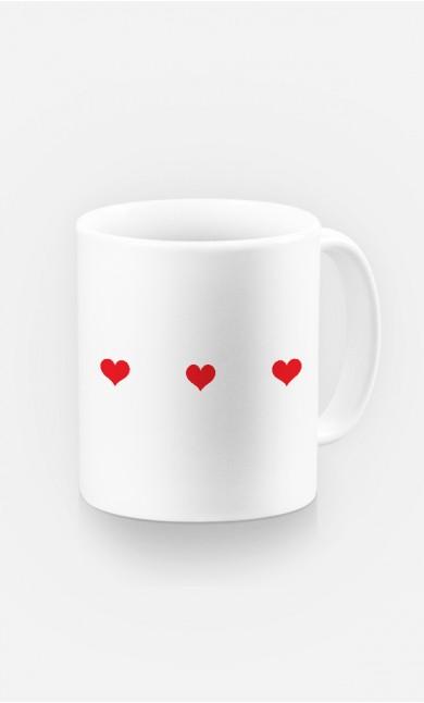 Mug Trois cœurs