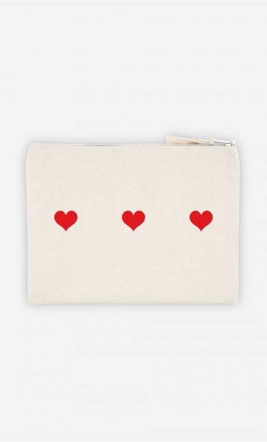 Pochette Trois cœurs