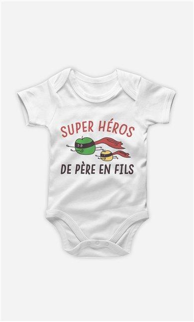 Body Bébé Super Héros De Père En Fils