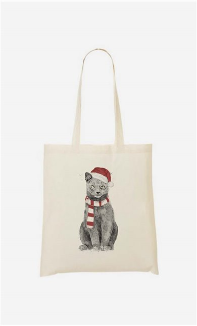 Tote bag Xmas Cat