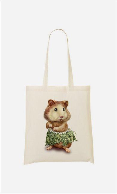 Tote bag Hamster Hula