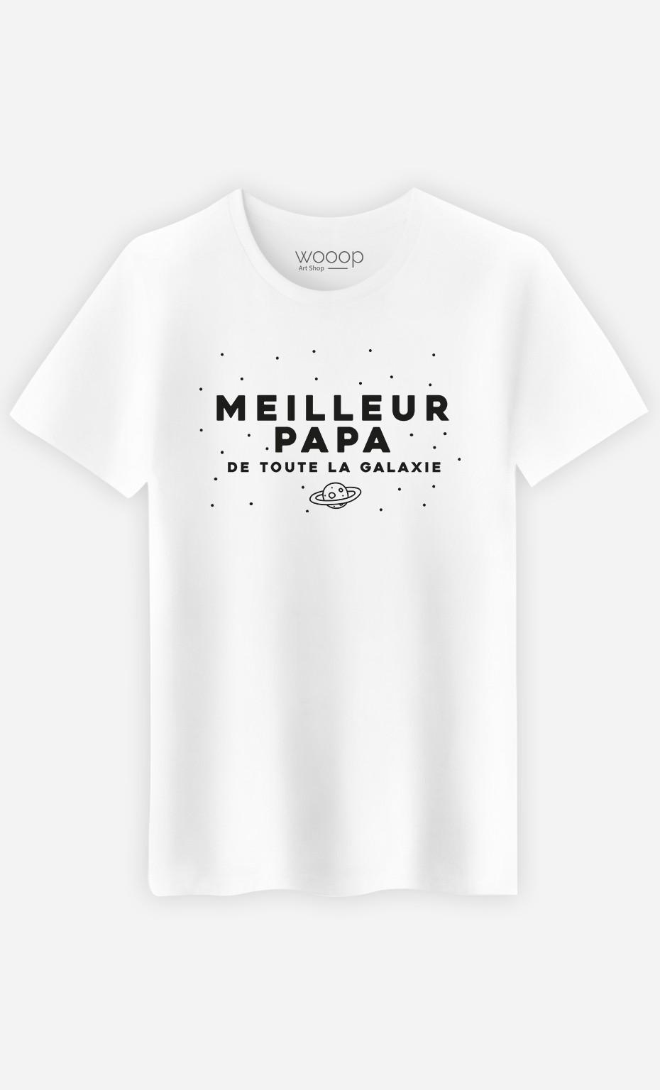 T-Shirt Homme Meilleur papa de toute la galaxie