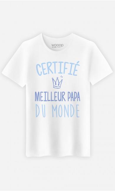 T-Shirt Homme Certifié meilleur papa du monde