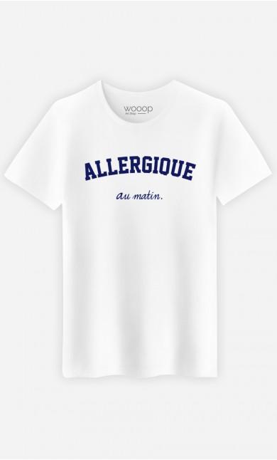 T-Shirt Homme Allergique au matin