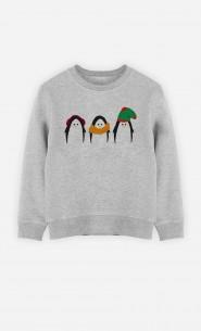 Sweatshirt Enfant Manchots au chaud