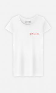 T-Shirt Femme Je t'aime etc - brodé