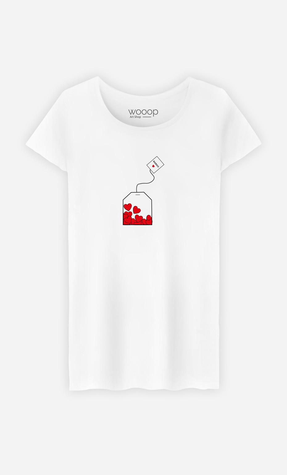 T-Shirt Femme Mom Love Tea