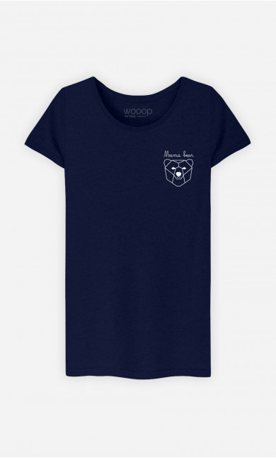 T-Shirt Femme Mama Bear Origami