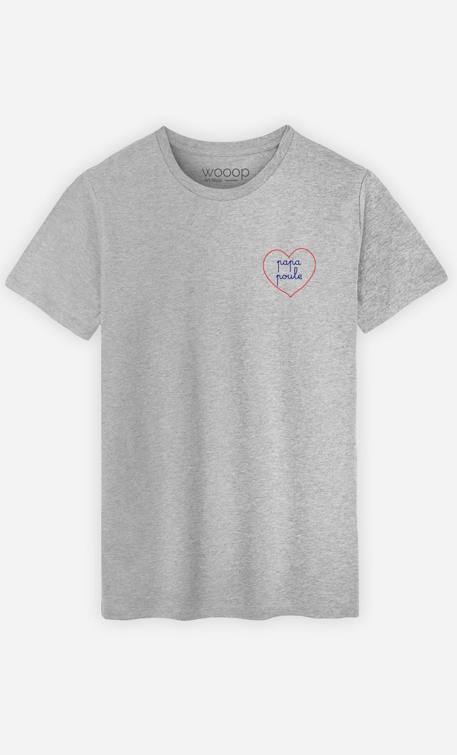 T-Shirt Homme Papa Poule - Brodé