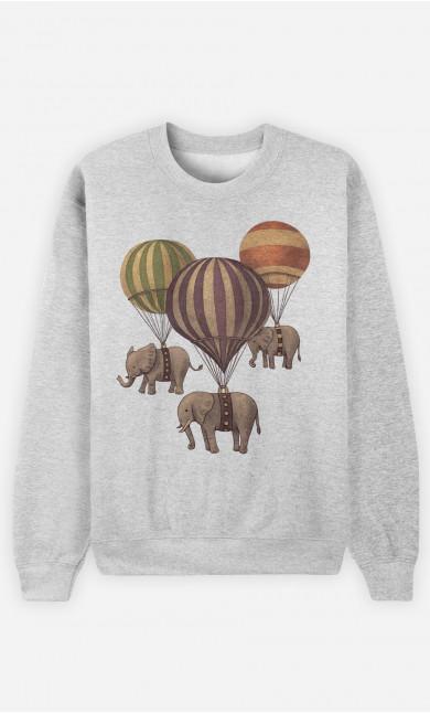 Sweat Femme Flight of Elephants