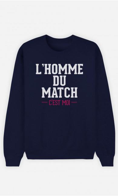 Sweat Bleu L'homme Du Match C'est Moi