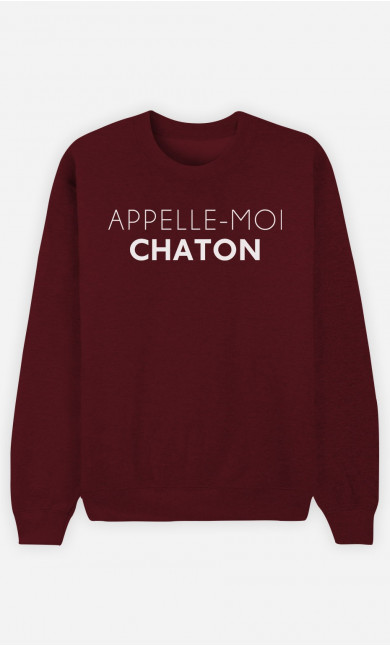 Sweat Homme Appelle-Moi Chaton