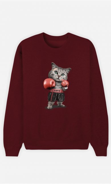 Sweat Homme Boxing Cat