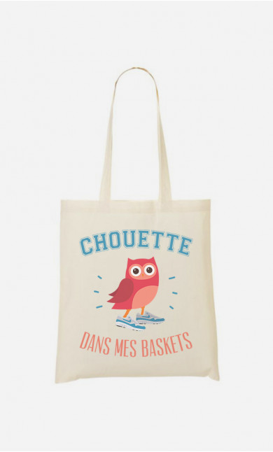 Tote bag Chouette Dans Mes Baskets