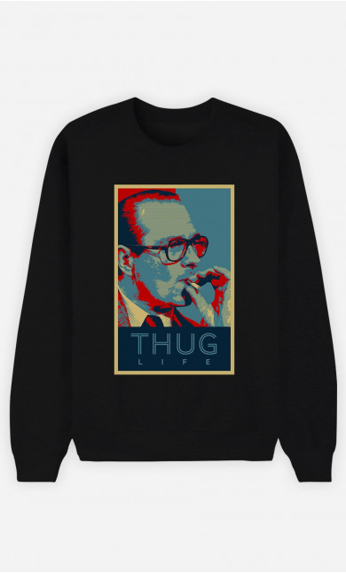 Sweat Homme Chirac Thug Life