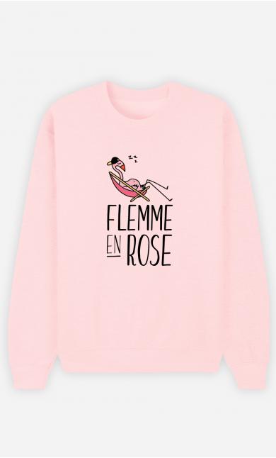 Sweat Femme Flemme En Rose