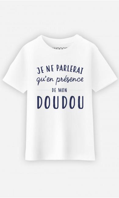 T-Shirt Enfant Je Ne Parlerai Qu'en Présence