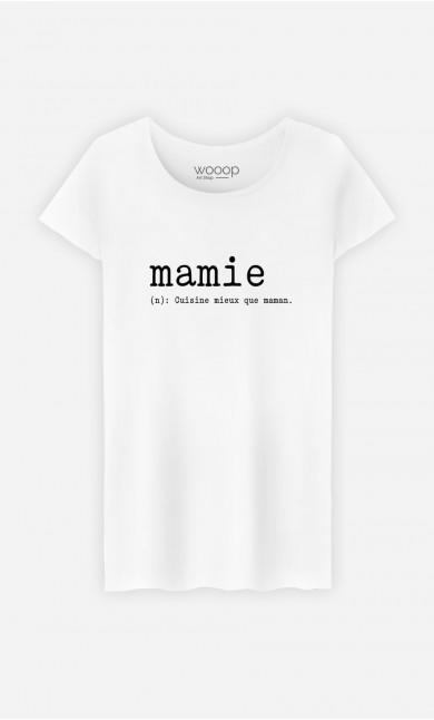 T-Shirt Femme Mamie Définition
